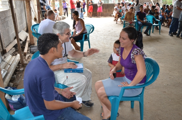 Doctors meet with patients with the help of translators