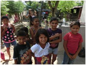 Children from the feeding program